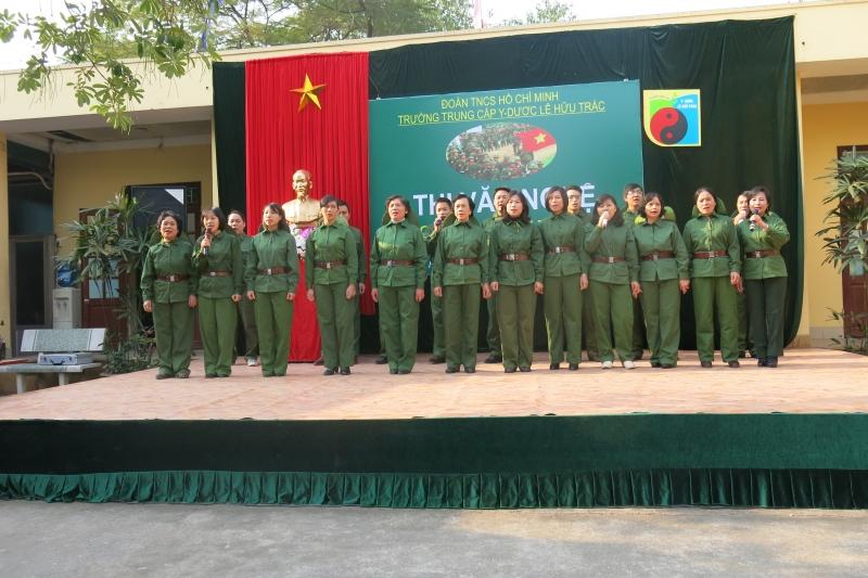 Hội diễn văn nghệ chào mừng 70 năm thành lập Quân đội Nhân dân Việt Nam của thầy và trò trường Trung cấp Y – Dược Lê Hữu Trác