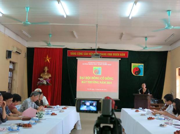 Trường Trung cấp Y Dược Lê Hữu Trác tổ chức Đại hội cổ đông năm 2015